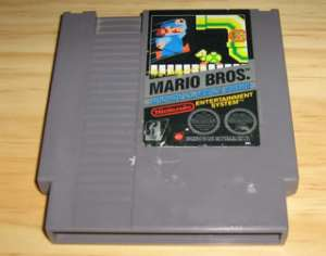 nes cartridge cartouche cassette mario bross indestructible graphigné